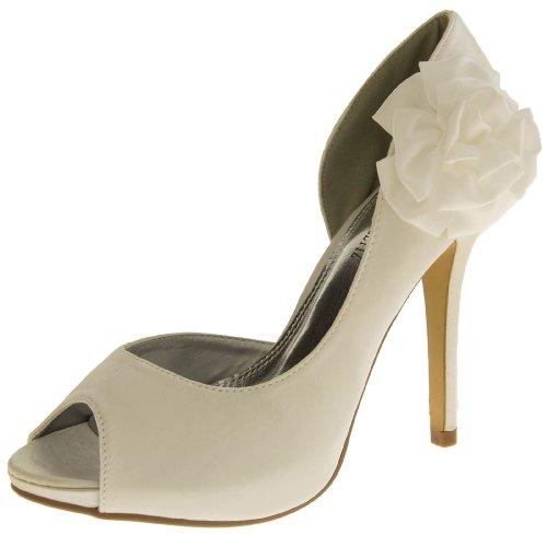 Glamour N Glitz Damen Satin Absatz Brautschuhe Elfenbein Weiß EU 39 Glamour Satin-heels