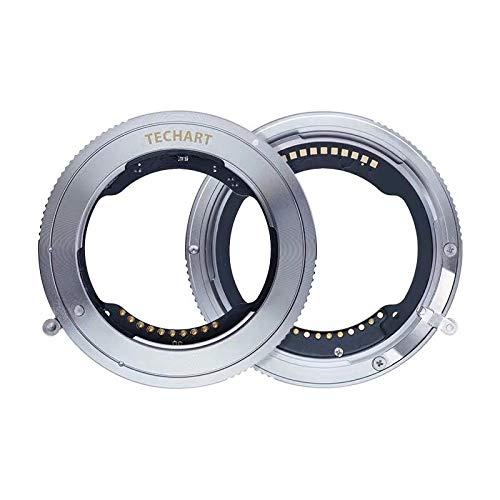 Ewoop tze-01 techart - adattatore per autofocus ad alta velocità, apertura elettronica integrata per obiettivi sony fe su fotocamere mirrorless nikon z6 z7