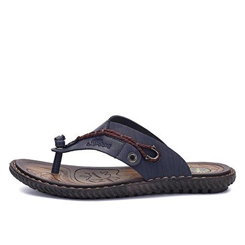 SITAILE Herren Sommer Flache flip flop Hausschuhe Pantoletten Zehentrenner Sport Outdoor Sandalen Schuhe Blau
