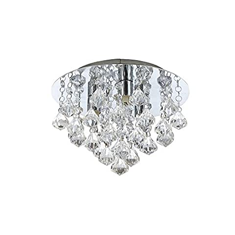 Flush Mount Modern Contemporary Crystal Mini Style Ceiling Light Living Room Bedroom Dining Room Kitchen
