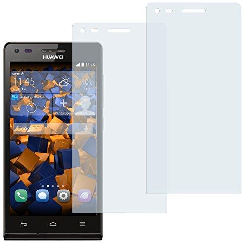 mumbi Schutzfolie kompatibel mit Huawei Ascend P7 Mini Folie klar, Bildschirmschutzfolie (2x)