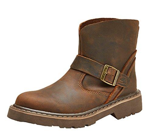 Insun , Herren Stiefel Crazy Horse Leather Brown