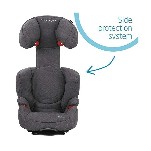 Maxi-Cosi Rodi AirProtect Child Car Seat, Lightweight Highback Booster, 3.5-12 Years, 15-36 kg, Sparkling Grey Maxi-Cosi Child car seat, suitable from 3.5 to 12 years (15-36 kg) Easily install this safe car seat with a three point seat belt and attach the anchorage point in the head rest through your cars head rest Patented AirProtect technology in headrest reduces the risk of head and neck injuries up to 20 percent 7