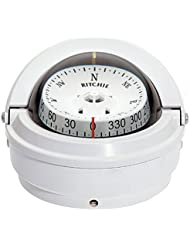 RITCHIE S-87W VOYAGER SURFACE MOUNT COMPASS WHITE