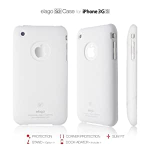 elago S3 Case for iPhone 3G/3GS + Universal Dock Adapter + S2 Stand included (Soft Feeling White)