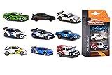 Majorette 212084020  - Racing coches, tres vehículos de Rally con volante libre, escala 1:64, de 7,5 cm, surtido: modelos y colores aleatorios