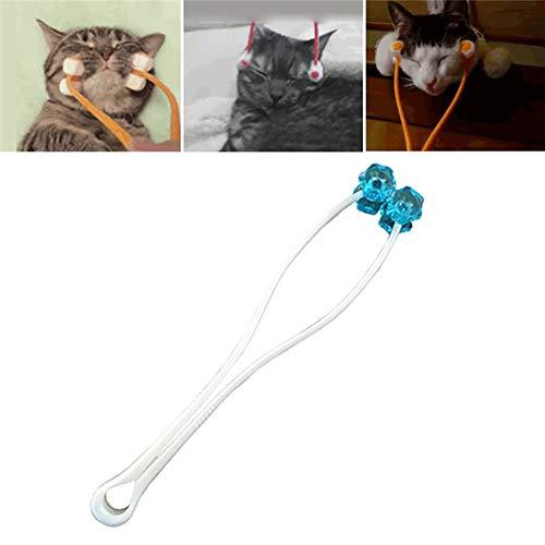 TrifyCore 1PC Cat Massage Roller Relaxer Massage Gesicht Haustier Hund Katze Schönheit dünnes Bein Gerät mit Werkzeugen Grooming Tool (Large, Blau), die wichtigsten praktischen Accessoires -