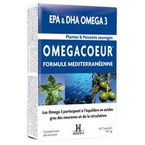 Omegacoeur integratore di olio di pesce selvaggio e piante 60