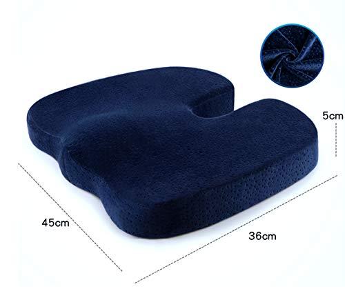 Traditionelle Memory-schaum (ALIPC Orthopädischen Memory-Schaum Sitzauflage,atmungsaktiv Waschbar Stuhlauflage Ergonomisches Design Stuhlkissen Samt-Stil-e 45x36x5cm(18x14x2inch))