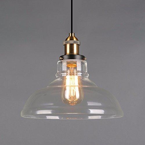VanMe Lampe De Style Country Américain Nordique Minimaliste Verre Lustre Loft Industriel Vintage,Alinéa B