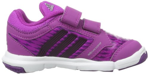 adidas  Adipure Trainer 360 CF, chaussures premiers pas bébé Rose - Pink (Vivid Pink S13/Tribe Purple S14/Metallic Silver)