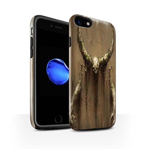Offiziell Chris Cold Hülle / Glanz Harten Stoßfest Case für Apple iPhone 7 / Hohe Königin Muster / Dunkle Kunst Dämon Kollektion Hörner