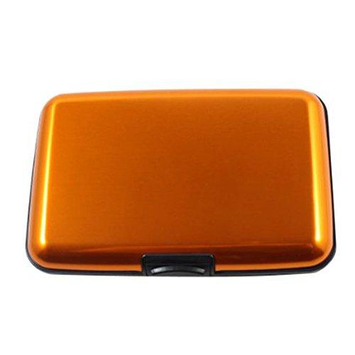 Hosaire 1 Pcs Box Case Halterung, Aluminium Rigid sicheren Kreditkarte Business Karte Brieftasche, Aluminium,Orange