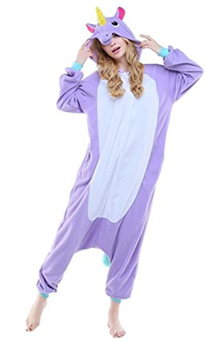 Pyjama Licorne Adulte Kigurumi Combinaison Animaux Unicorn (S(Hauteur:150-160cm), New Pink Unicorn)