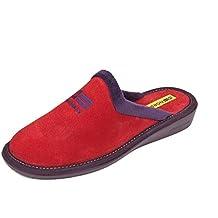 Zapatillas de casa en Ante Rojo