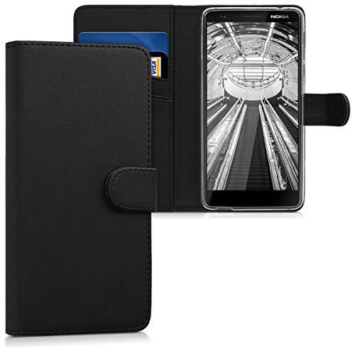 kwmobile Nokia 2.1 (2018) Custodia Portafoglio - Cover a Libro in Simil Pelle - Flip Case con Porta Carte per Nokia 2.1 (2018)