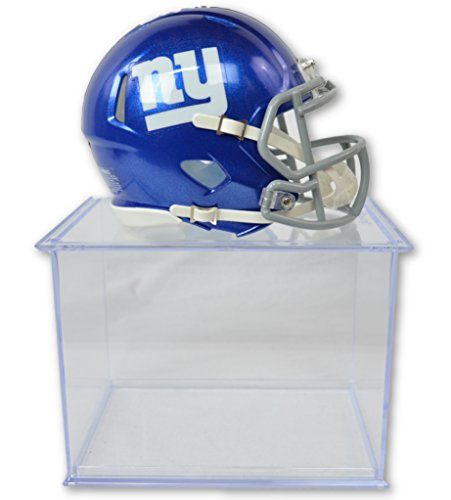 Riddell Offizielles National Football League Fan Shop Authentische NFL Mini Speed Helm und Display Schutzhülle Bündel. Tolles Sports Fan Collectible-Büro, Zuhause Oder Man Cave, New York Giants