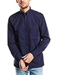 Tommy Hilfiger 80S Two Ply Poplin Nfc1 - Camisa para hombre, color midnight, talla SM