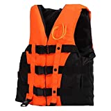 odowalker Life Jacke Tarierweste Taucherjacket mit Emergency Whistle und eine Innentasche für Bootfahren, Wasserski, Angeln, Kanu, Rafting und andere Wasser Sport für Kinder Erwachsene (für Gewicht 22–240LB), Orange