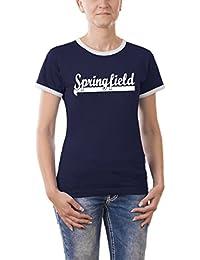 Touchlines Girlie Ringer T-Shirt Springfield - Homer, B9130