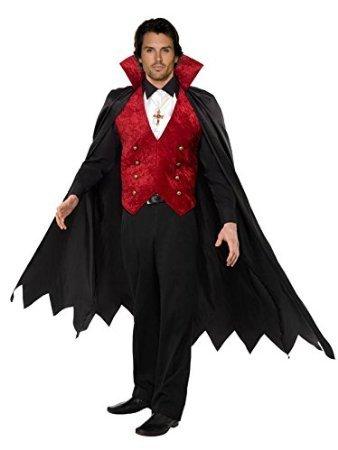 Robingift Fever Herren Vampir Kostüm mit Weste Cape und Verspielt