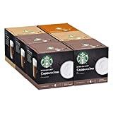 Starbucks Nescafe Dolce Gusto Variety Pack White Cup Coffee Pods, 72 Capsules (6 x 12, 36 Portions)...