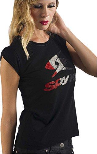 Spyke owc3original Bikers Jeans T-Shirt Femme, Manches Courtes Black Absolue