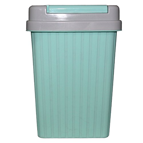 Lemish household Hygienic Living Large Kitchen Covered Desktop Dustbin Trash- Sky Blue