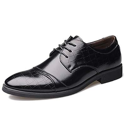 ASHION Business Schnürschuh Herren Schuhe Klassische Spitze Schuhe (44 EU, Schwarz)