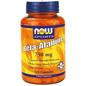 41NmsEdIHGL. SS300  - Beta Alanine, 2250mg (Caps) - 120 caps by NOW Foods mm