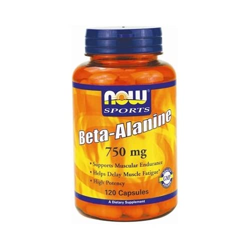 41NmsEdIHGL. SS500  - Beta Alanine, 2250mg (Caps) - 120 caps by NOW Foods mm