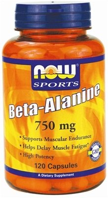 Beta Alanine, 2250mg (Caps) – 120 caps by NOW Foods mm