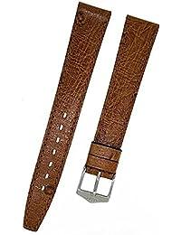 Fortis Reloj de pulsera piel marrón con costura marrón 14mm Nuevo 8798