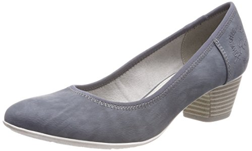 s.Oliver Damen 22301 Pumps, Blau (Denim), 38 EU
