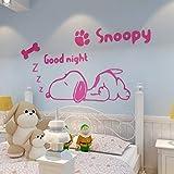 Adesivi Murali in Vinile Acrilico per Camera dei Bambini Camera 3D Adesivo in PVC Cucciolo Adesivo Home Decor Dog Decalcomania Impermeabile Rimovibile Art Decor 60x32Inch