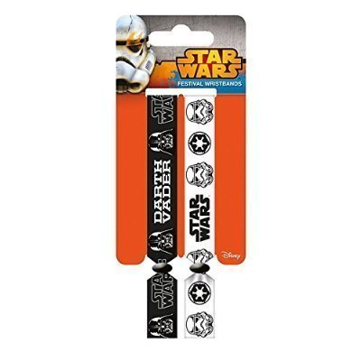 Star Wars Darth Vader and Stormtrooper Double Festival Wristband Set (Game Official Kostüm)
