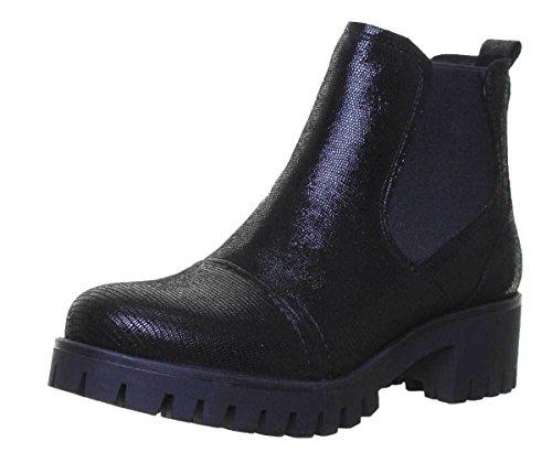 ot-CD141-XB, Damen Chelsea Boots, Schwarz - Schwarz glänzend - Größe: 35.5 ()