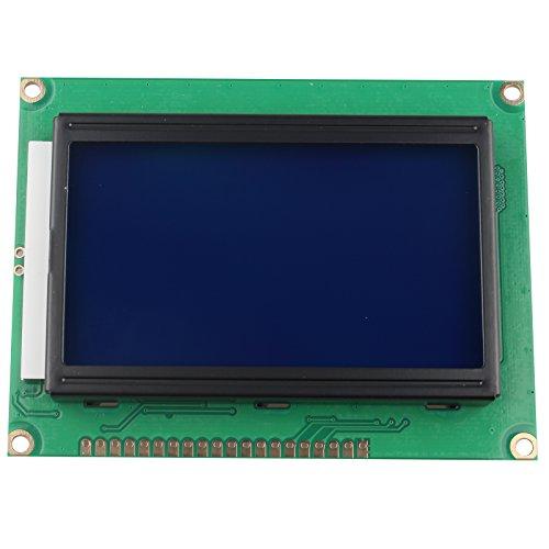 HALJIA 5V 12864modulo Display LCD 128x 64Punti grafici Personaggi Letter Matrix retroilluminazione Blu per Arduino fax e fotocopiatrici Laser stampanti 3D Printer