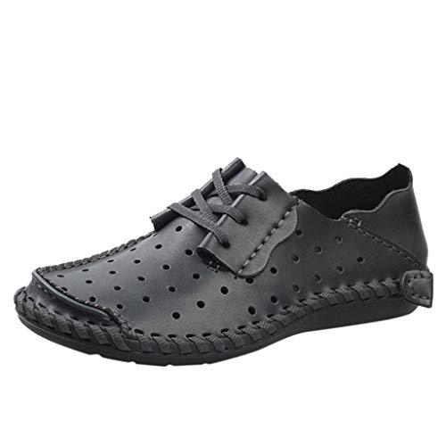 Faule Schuhe Herren Business-Schuhe Sommer Schuh-Breathable Lederschuhe Mesh Tuch Outdoorschuhe Trekking Arbeitsschuhe Leichtgewicht Freizeitschuhe Sneaker