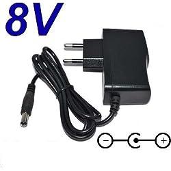 Adaptateur Secteur Alimentation Chargeur 8V pour Remplacement Vélo Elliptique Techness SE 400 puissance du câble d'alimentation