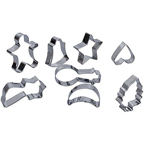 Figura Molde YOKIRIN metallo dell'acciaio inossidabile per Biscuit esagonale quantità di Otto insieme