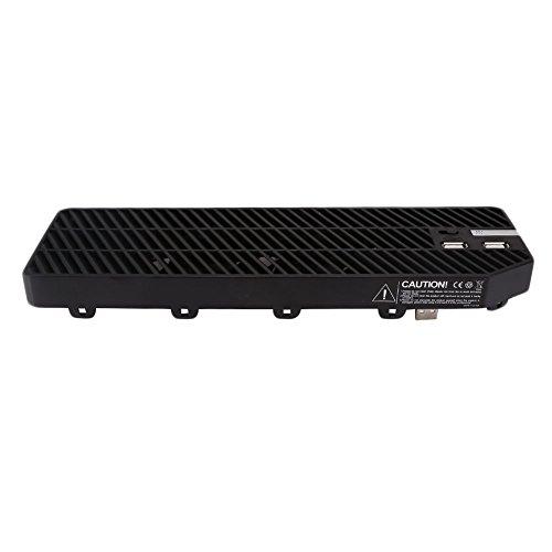 Beautyrain Dobe Xbox One USB-Lüfter, Plug in Externer Kühler Lüfter Console Cooler Staubschutz mit 2 Ports USB Hub für Xbox One Konsole