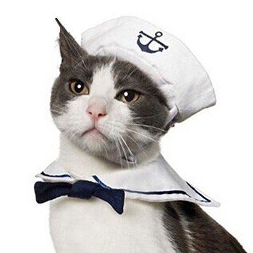 Landsell Neuer Marine Seemann Querbinder Klage Katzen Hund warmer Hut