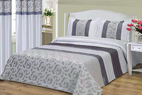 mercatohouse – Couvre-lit bouti Comforter Premium Jacquard 200gr – Hellen (lit – 150)