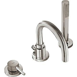 Tres Grifería 06215001AC – Monomando bañera de repisa con ducha anticalcárea. · Caudal: 3bar – 14l/m.