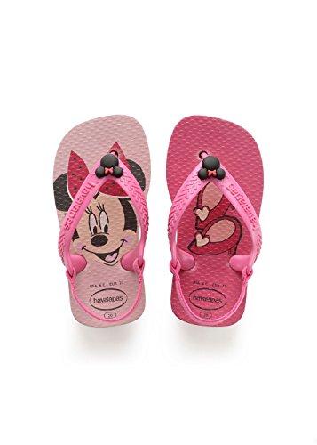 Havaianas disney classics ii, sandali unisex - bambini, rosa (pearl pink), 22 eu (20 brazilian)