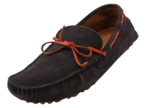 Mast & Harbour Men's Black and Red Velvet Moccasins - 9 UK  available at amazon for Rs.629