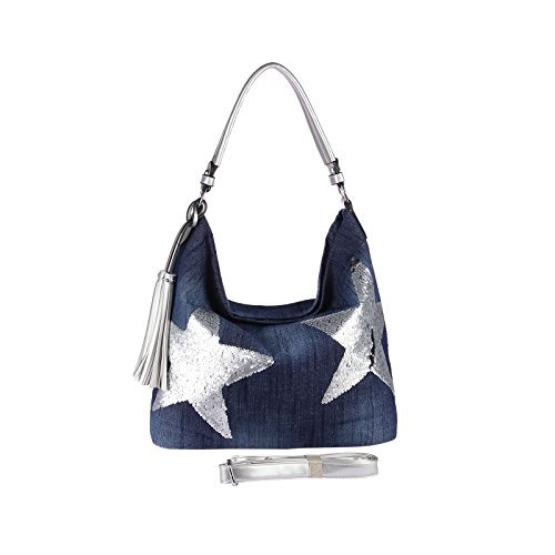 obc-ital-design-mesdames-xxl-etoile-sac-a-main-toile-coton-pierres-strass-or-argent-bowling-sac-sac-