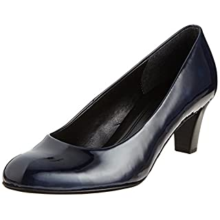 Gabor Shoes Damen Basic Pumps, Blau (Marine), 38.5 EU