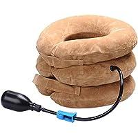 Dispositivo de tracción de 3 capas en el cuello, dolor de cabeza, dolor en el hombro, almohada, soporte para la abrazadera, movilidad relajante, protector neumático de aire suave, cuello cervical